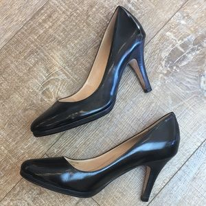 Cole Haan | Nike Air Black Leather Pumps Sz 10